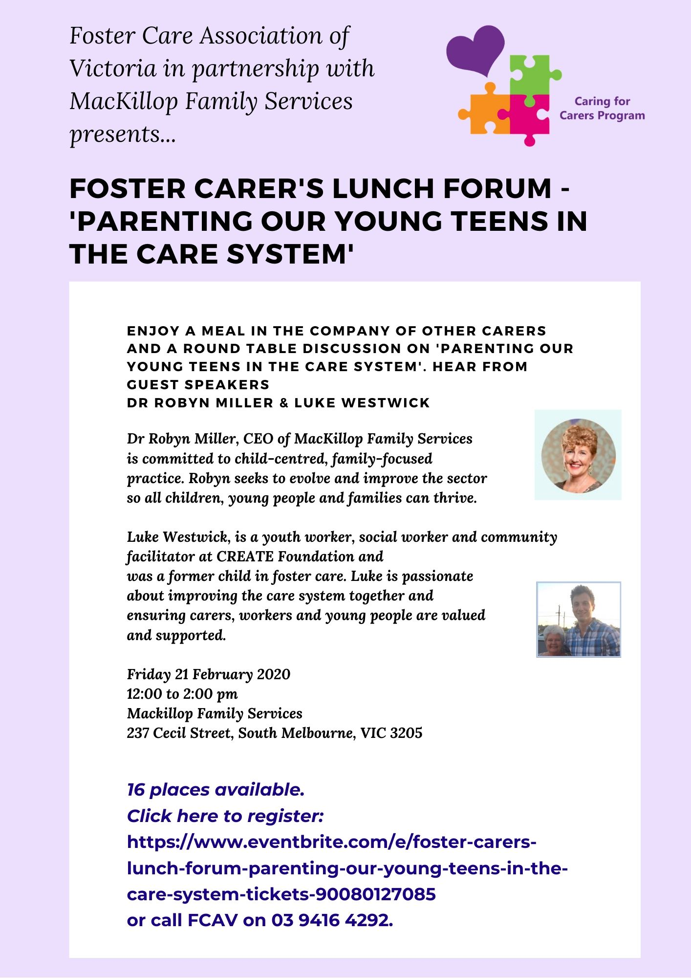 Carers long lunch Mackillop