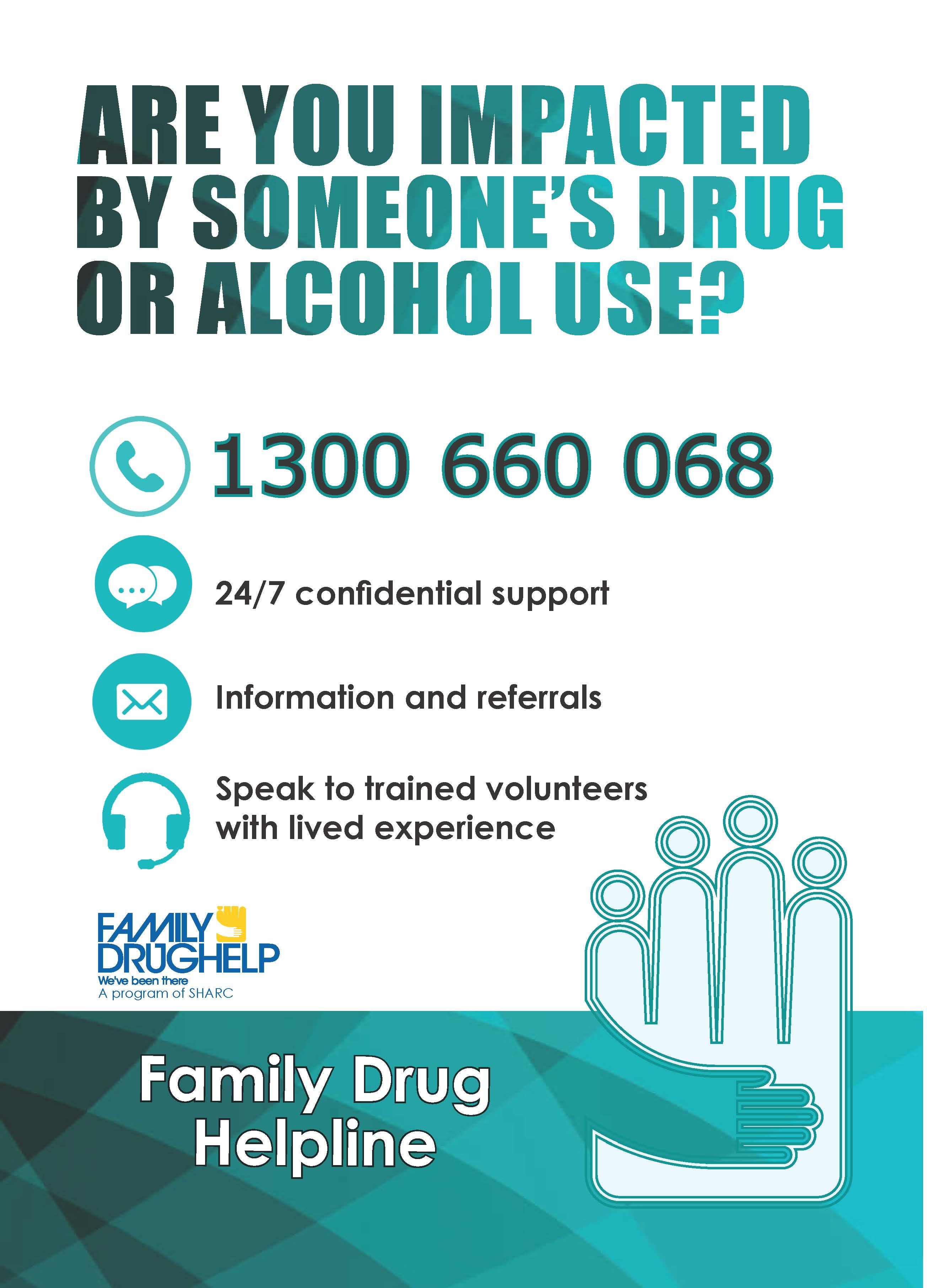 Family Drug Help Helpline Poster